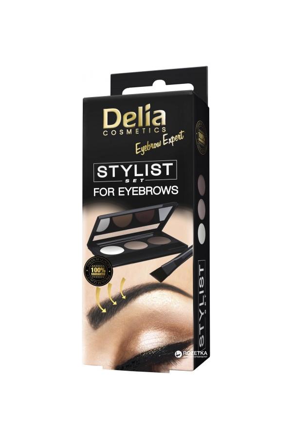 Eyebrow Expert Stilist set (cire, ombres, aplitor) Delia cosmétics 7 ml