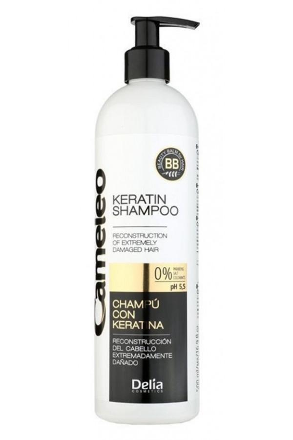 Shampoing à la kératine pour cheveux abîmés Delia Cosmetics 500 ml