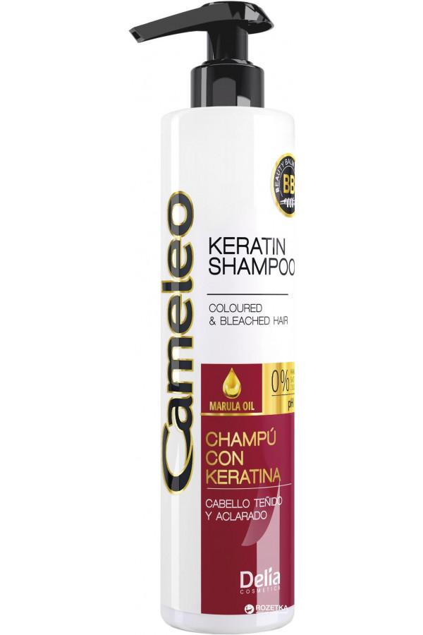 Shampoing à la kératine pour cheveux colorés et méchés Delia Cosmetics 500 ml