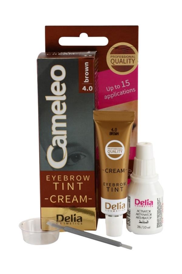 Crème colorante professionnelle sourcils sans ammoniaque Marron foncé 15 ml