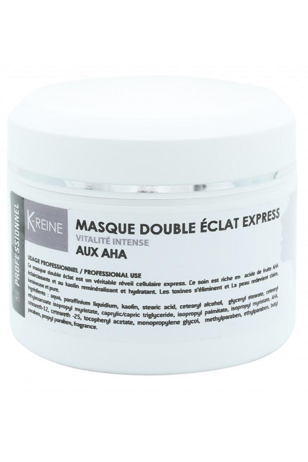 MASQUE DOUBLE ÉCLAT VISAGE AUX AHA 150 ML K-REINE