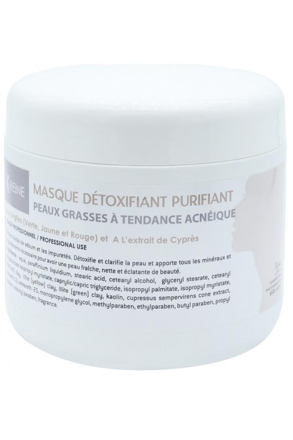 MASQUE DÉTOXIFIANT PURIFIANT PEAU GRASSE VISAGE 150 ML K-REINE