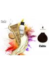 Perla Professional Coloration 100% Protéine et Huile d'argan - 4 + Oxydant 150ml