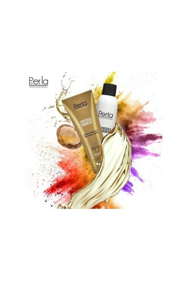 Perla Professional 100% Protéine et Huile d argan - VIOLET + Oxydant 150ml