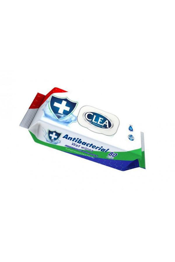 Lingettes antibactériennes, désinfectantes et hygiéniques 80 - CLEA