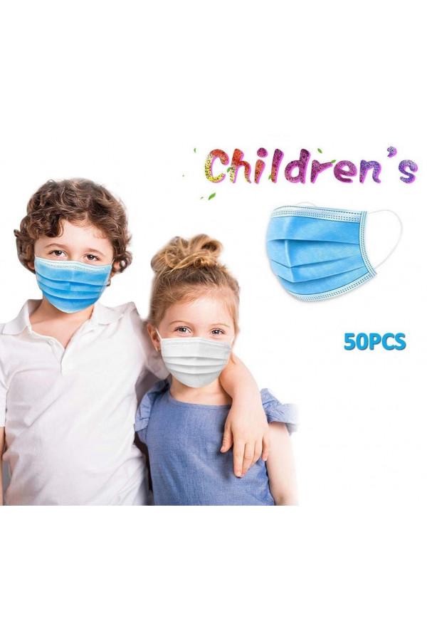 Masques Bavettes jetables Pour enfant 3 couche - Paquet de 50