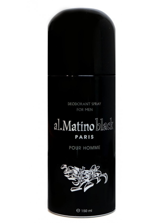 DÉODORANT SPRAY AL MATINO BLACK HOMME 150 ML-PARIS BLEU